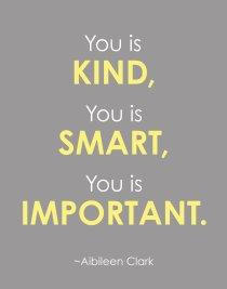 kind smart important